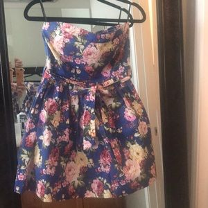 Blue floral dress from Charlotte Russe